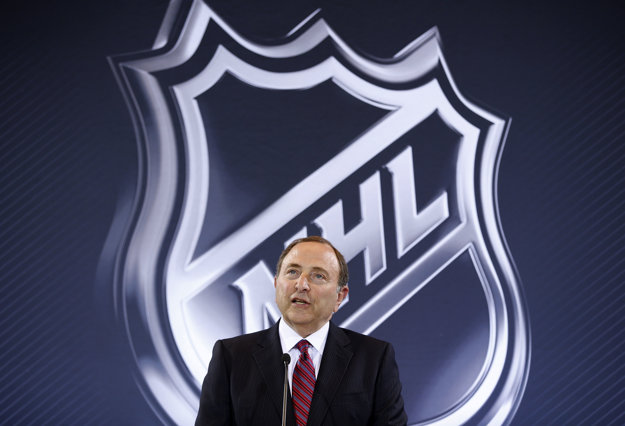 Komisár hokejovej NHL Gary Bettman.
