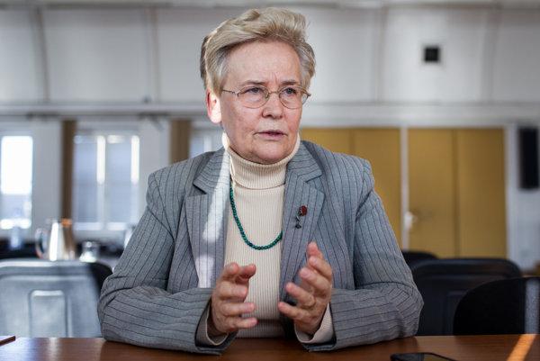 Ekonómka a politička Brigita Schmögnerová.