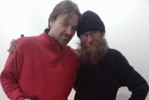 Július Fujak a Milan Adamčiak na PostmutArte 2011 v Nitre.