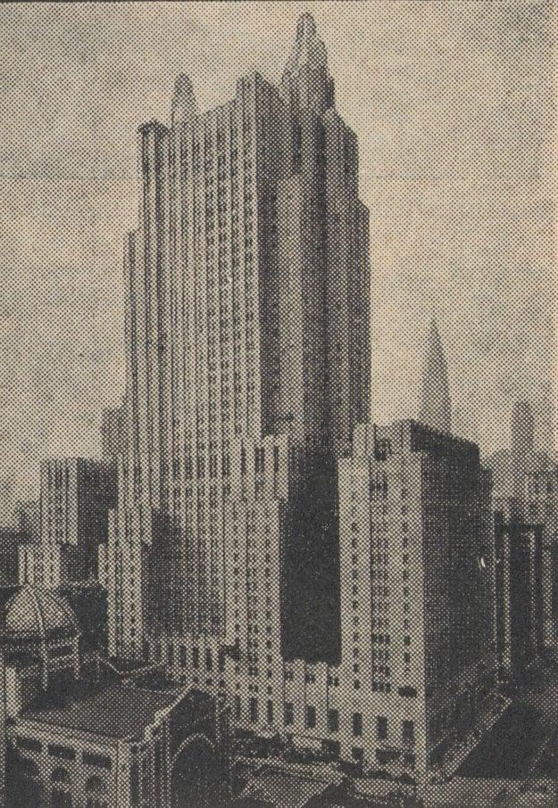 Jeden z mnohých mrakodrapov New Yorku.