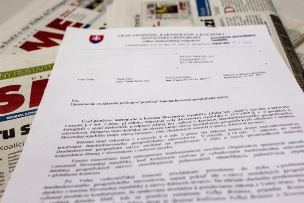 Geodetický úrad rozposiela médiám aj ministerstvám upozornenie, že používajú zaužívané a nie štandardizované názvy štátov.