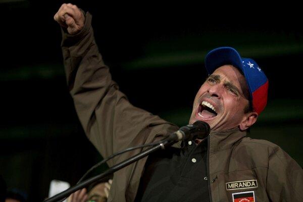 Opozičný líder Henrique Capriles.