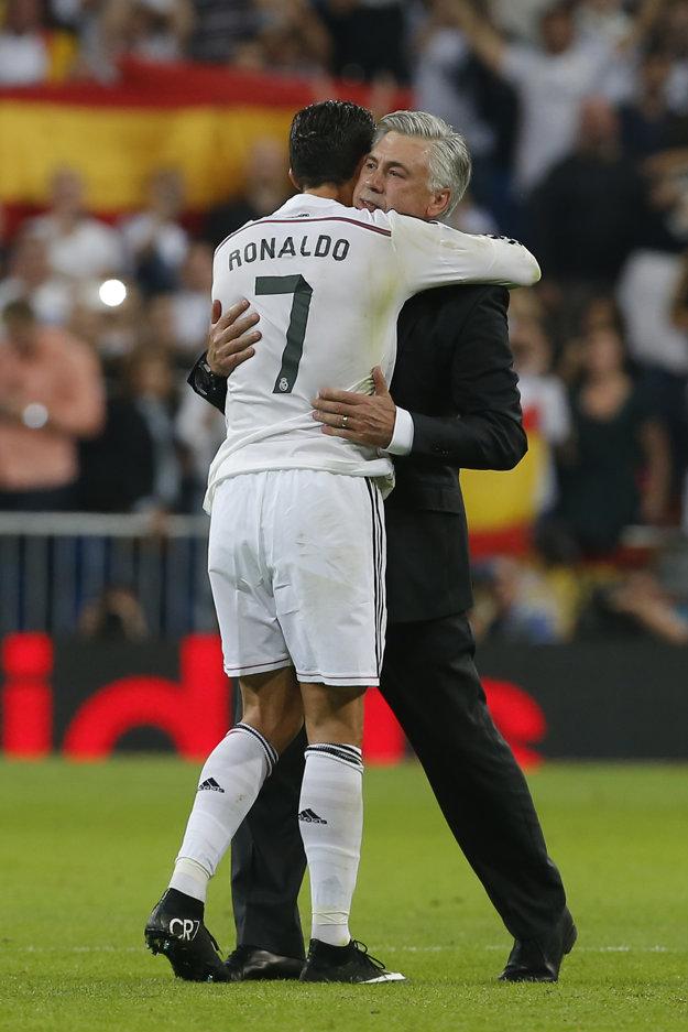 Aj Cristiano Ronaldo bol nešťastný z odchodu Carla Ancelottiho.