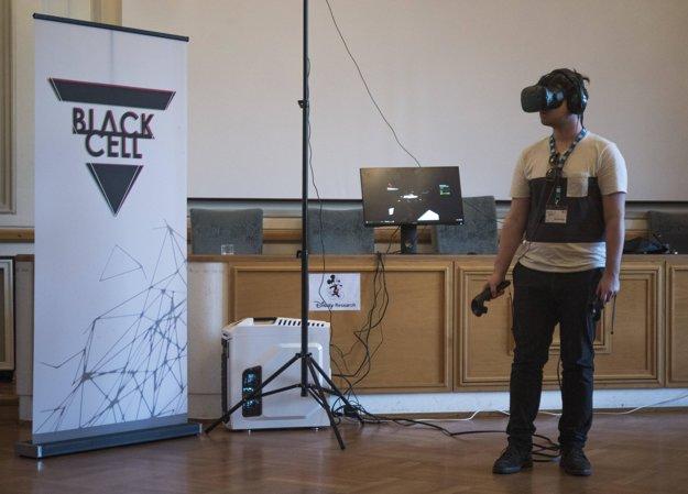 Virtuálna realita bola jedna z najväčších atrakcií výstavy.