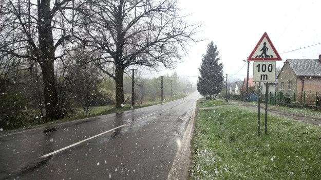Sneh v Nižnej Slanej.