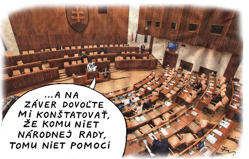 Rada. Národná rada (kreslí Vico) 22. apríl
