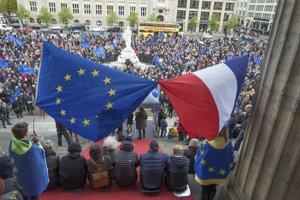 Demonštráciu zorganizovalo hnutie Pulz Európy.