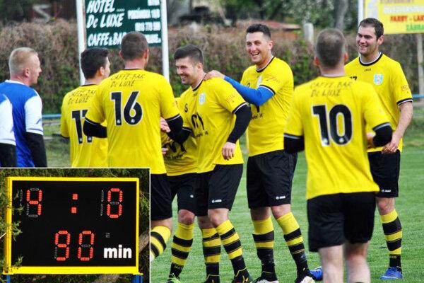 Futbalisti Lapáša porazili Preseľany 4:0. Vyhrali štvrtý zápas v rade.
