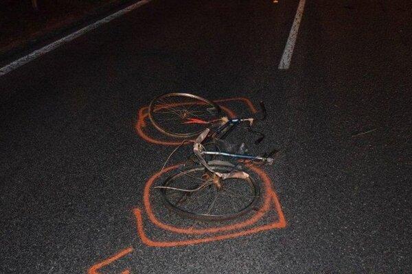 Fotografia z miesta tragickej nehody.