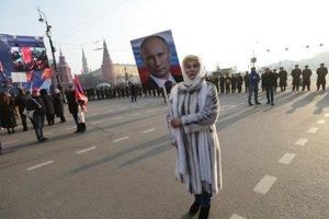 Rusi oslavovali aj Putina.