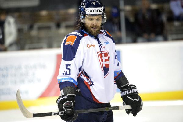 Marek Hovorka v reprezentačnom drese na ilustračnej fotografii.