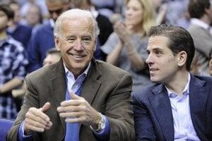 Viceprezident Biden a jeho syn Hunter.