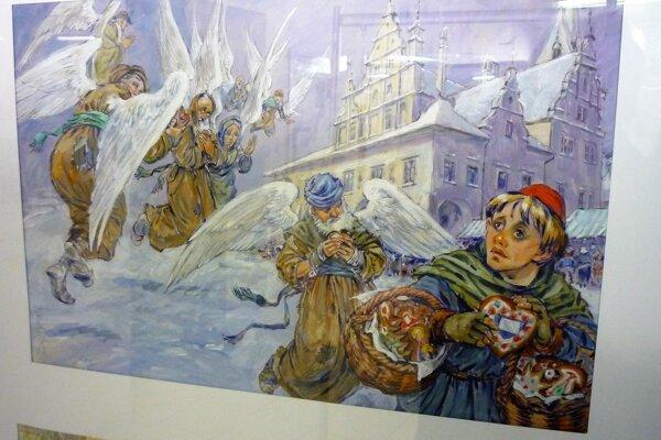 Knižná ilustrácia Stana Lajdu kLevočským povestiam, ktorých autorom je Ján Milčák.
