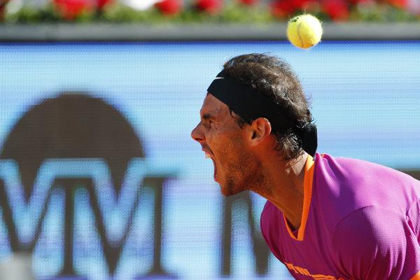 Rafael Nadal sa raduje po zdolaní Novaka Djokoviča.