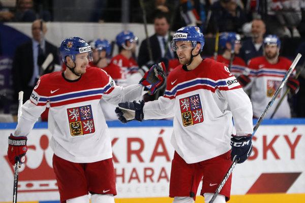 Českí hokejisti - ilustračná fotografia.