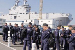 Ruskí námorníci vo Francúzsku.