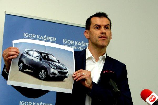 Igor Kašper poukázal aj na čudný predaj majetku župy - v tomto prípade auta Hyundai.