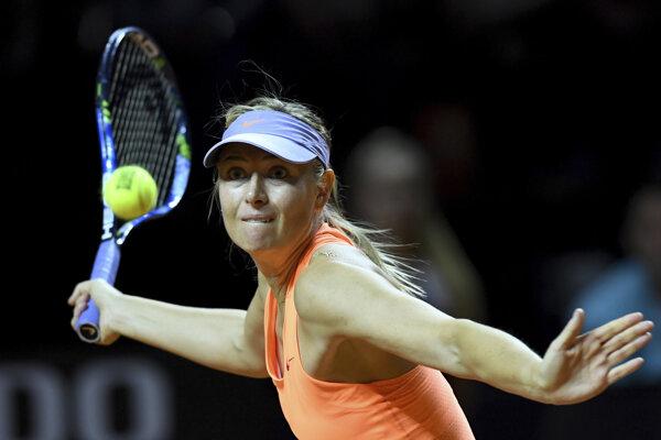Maria Šarapovová sa vracia po zranení.