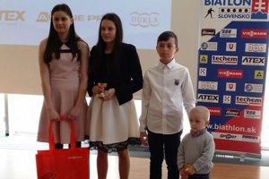 Zľava Anežka Smarkoňová, Zuzana Remeňová, Sebastián Belicaj a Bartolomej Belicaj.