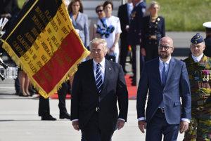 Prezident Trump pricestoval do Belgicka.