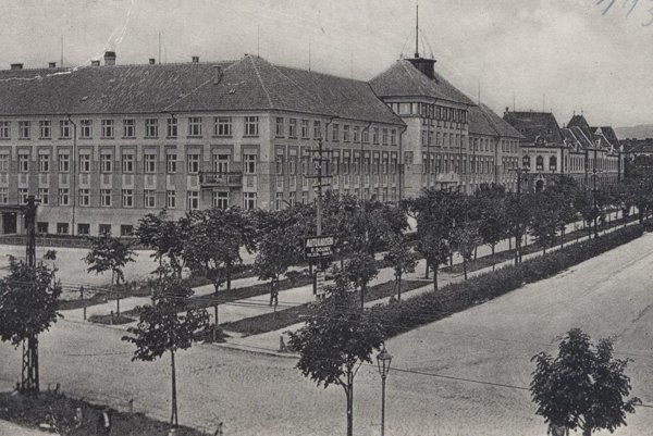Rákócziho okružná v roku 1933, dnešná Moyzesova ulica.