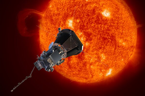 Vizualizácia slnečnej sondy Parker. Vedci zverejnili informácie získané počas prvých troch preletov.