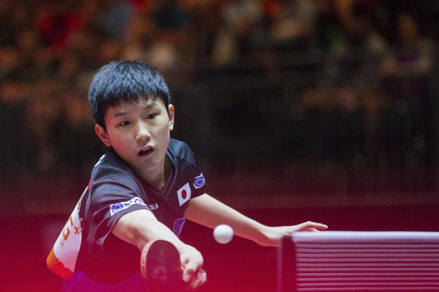 Japonec Tomokazu Harimoto je azda najväčším talentom stolného tenisu.