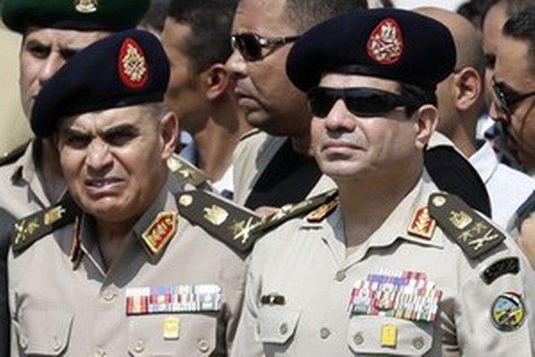 Abdal Fattáh Sísí (vpravo).