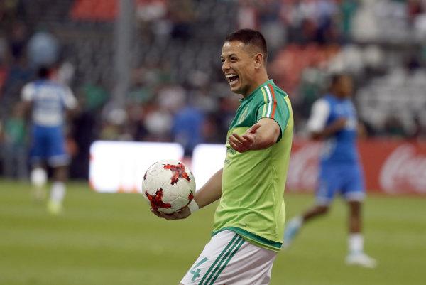 """Javier """"Chicharito"""" Hernandez."""