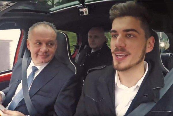Prezident Andrej Kiska vystupoval vo videu najsledovanejšieho youtubera Goga.