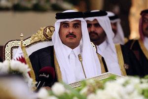 Katarský emir Hamád Ibn Chalífa as-Sání.