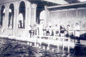 Levická plaváreň.
