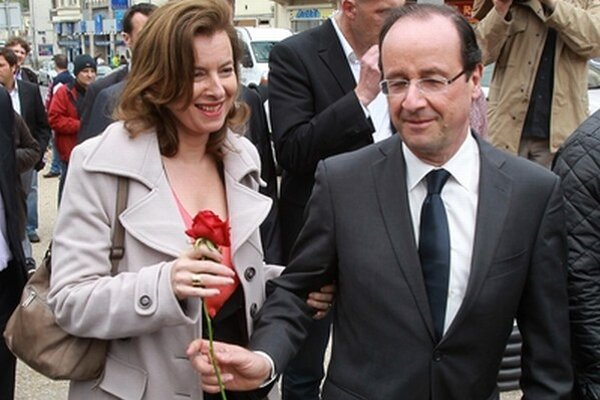 Trierweilerová a Hollande.