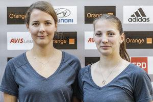 Natália Dubovcová (vľavo) od mája hrá vo dvojici s Andreou Štrbovou.