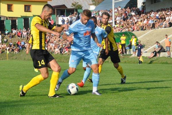 V Slovenskom pohári privítalo Oravské Veselé na svojom štadióne Slovan Bratislava.