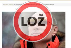 Lajkit.cz šíri hoax o neexistujúcom Putinovom prejave.