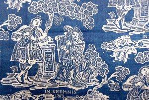 Najstaršia modrotlač na našom území pochádza z roku 1783, spája sa s Kremnicou.