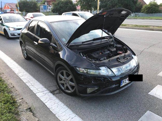 Honda zrejme nedobrzdila.