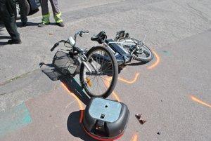 Bicykel po zrážke.
