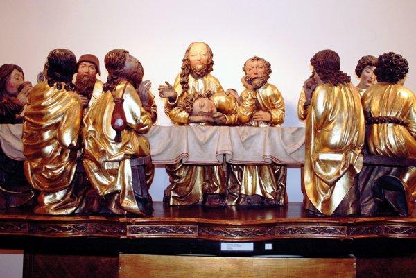 Kópia poslednej večere z hlavného oltára.