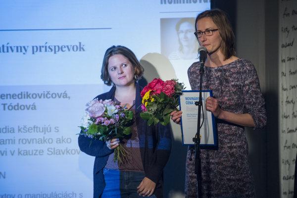 Na snímke zľava Monika Tódová a  Mária Benedikovičová.