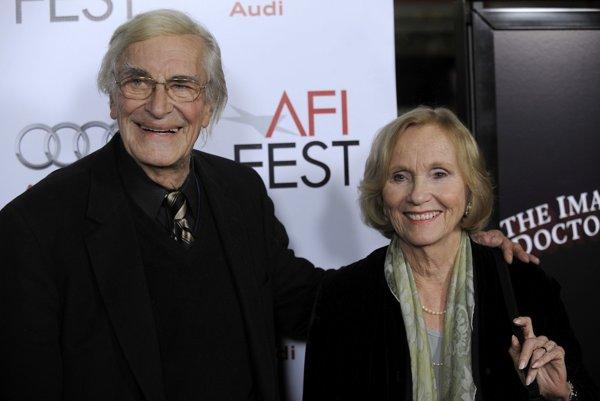Martin Landau a herečka Eva Marie Saint, s ktorou hral vo filme Alfreda Hitchcoka Na sever severozápadnou dráhou.