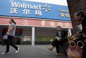 Obchodný dom Walmart v Číne.