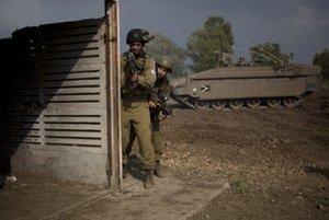 Izraelská armáda na Golanských výšinách.