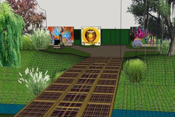 Takto by mala vyzerať oddychová zóna. Projekt finančne podporila Nadácia Ekopolis.