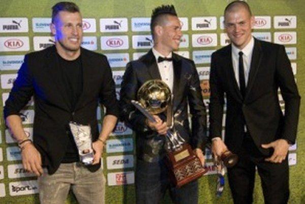 Traja najlepší futbalisti za rok 2014.