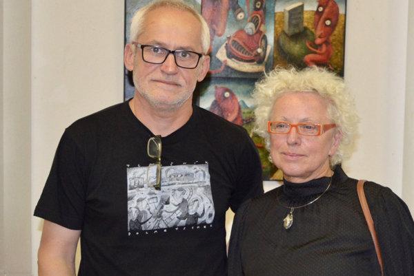 Autor výstavy Fero Lipták a prievidzská scénografka Ema Jakubisová.