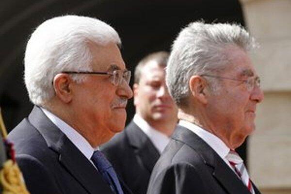Mahmúd Abbás a Heinz Fischer.