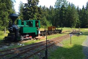 Expozícia Považskej železnice v skanzene Pribylina