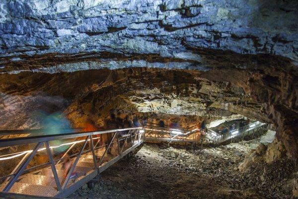 Na snímke priestory Demänovskej ľadovej jaskyne slobody v Nízkych Tatrách.